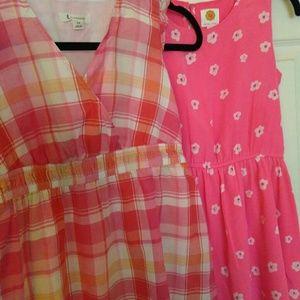 Other - 2 Pink dresses 1 Total Girl 1 Lands End